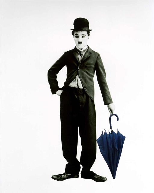 Charlie Chaplin meets the Blue Umbrella