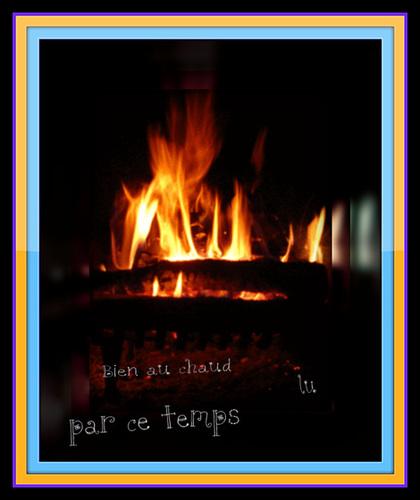 ** Que de pluie , restons au coin du feu  **