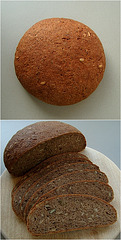 Seeded malt vinegar rye bread