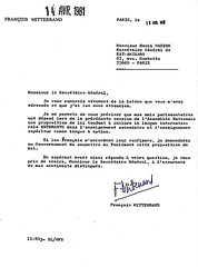 Promesse de François Mitterrand, 13 avril 1981