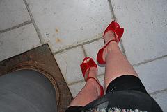 Dame Martine en talons hauts / Lady Martine in high heels -Photo originale