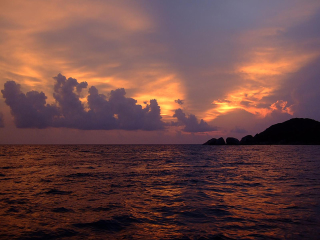 Sunset mood at Koh Tachai