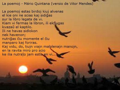 la poemoj - Os poemas - Mário Quintana, versio de Vitor Mendes