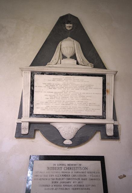 Lister Memorial, Burwell Church, Lincolnshire