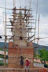 Pagoda under constuction