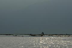 The lake in morning sunshine