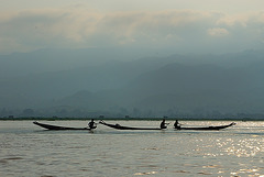 Fishers at the early morning