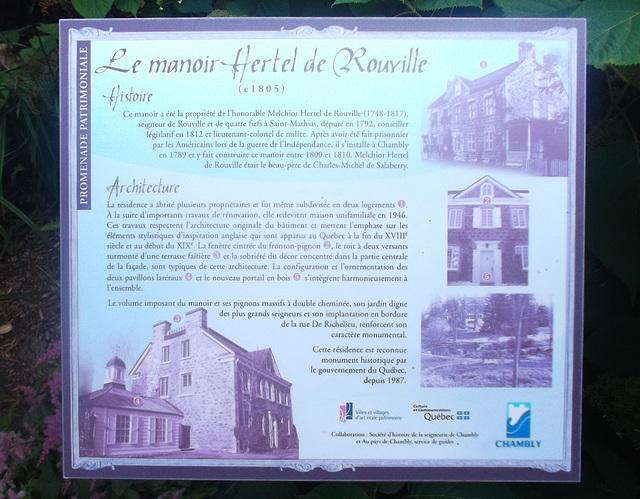 Le Manoir Hertel de Rouville / Hertel de Rouville Manor.