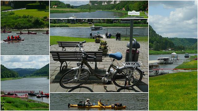 Radtour mit dem E-Bike im Elbtal und der Sächsischen Schweiz      Mai 2012