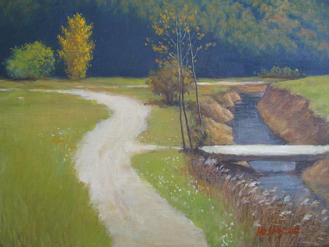 Enmonta pejzagxo en Yangpyong Koreio 2_oil on canvas_33.4x45.5cm(8p)_ 2012_HO Song