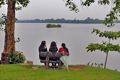 Deceptive idyllic mood at Inya Lake