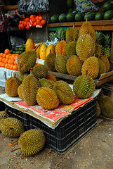 Durian fruit for sale in Yangon