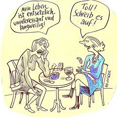 karikaturo pri modernaj inoj