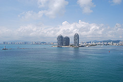 Sanya dans le golfe de Tongking en Chine