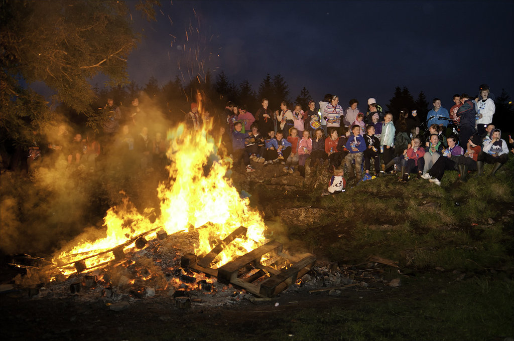 Bonfire at Lough Keel Scout Camp Boyle  TMP6899