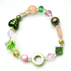 armband grün rosa