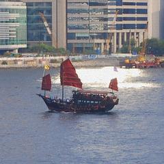 Jonque dans le port de HongKong