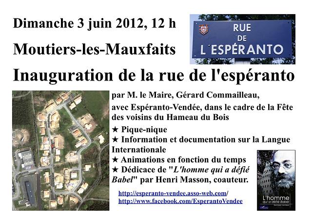2012-06-03 Inaŭguro de Esperanto-strato, Moutiers-les-Mauxfaits