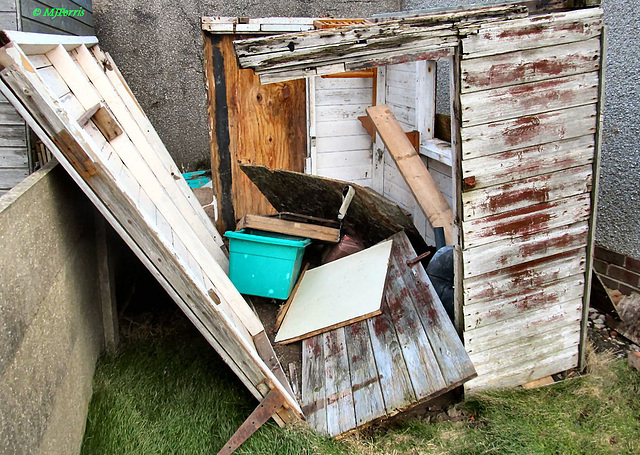 wrecked shed
