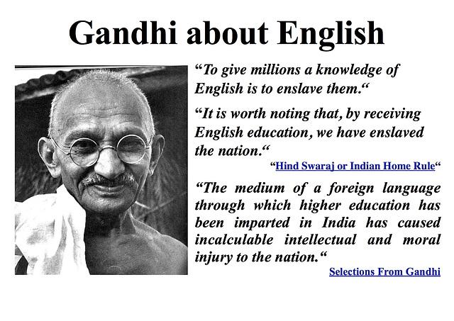 Gandhi about English