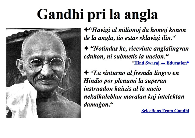 Gandhi pri la angla