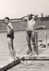 handsome swimmer 1940'