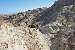 At the top of the narrow slot (3821)