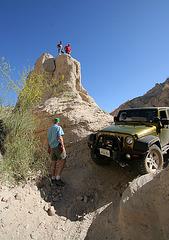 Scott's Jeep In A Narrow Slot (3823)