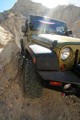 Scott's Jeep In A Narrow Slot (3825)