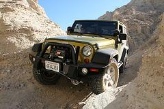 Scott's Jeep In A Narrow Slot (3826)