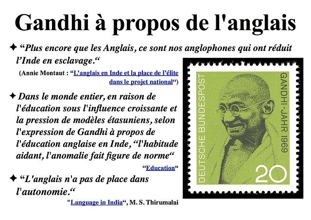 Gandhi à propos de l'anglais (2)
