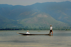 Intha residents on the Inle lake