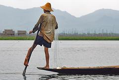 Leg rowing fishers