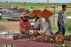 Shopping on the market