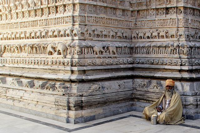 Sadhu in Jagdish-Temple Udaipur