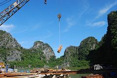 Travaux sur la Baie d'Halong