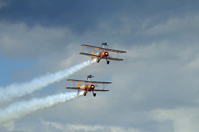 Wings and Wheels Dunsfold August 2014 X-T1 Breitling Wingwalkers 1