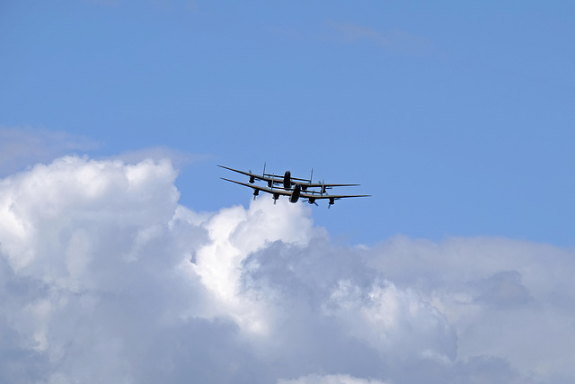 Wings and Wheels Dunsfold August 2014 X-T1 Lancasters 5