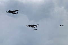 Wings and Wheels Dunsfold August 2014 X-T1 Lancasters Hurricane Spitfire 1