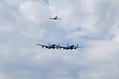 Wings and Wheels Dunsfold August 2014 X-T1 Lancasters Spitfire 1