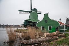 Moulin à bois à Zaanse Shans