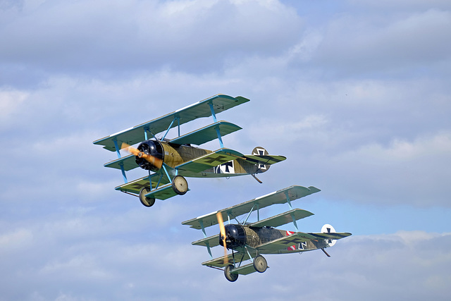 Wings and Wheels Dunsfold August 2014 X-T1 Fokker Triplanes 1