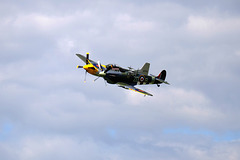 Wings and Wheels Dunsfold August 2014 X-T1 Spitfire Mk IXB Mustang P51D 6