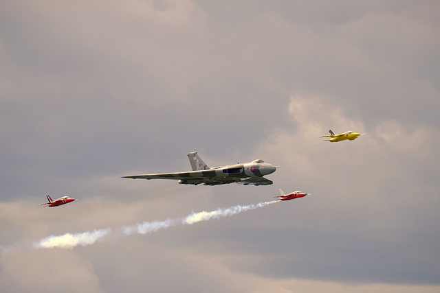 Wings and Wheels Dunsfold August 2014 X-T1 Vulcan Gnats 1