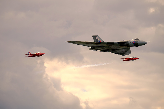 Wings and Wheels Dunsfold August 2014 X-T1 Vulcan Gnats 4