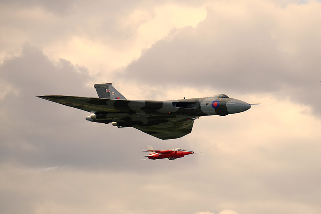 Wings and Wheels Dunsfold August 2014 X-T1 Vulcan Gnats 5