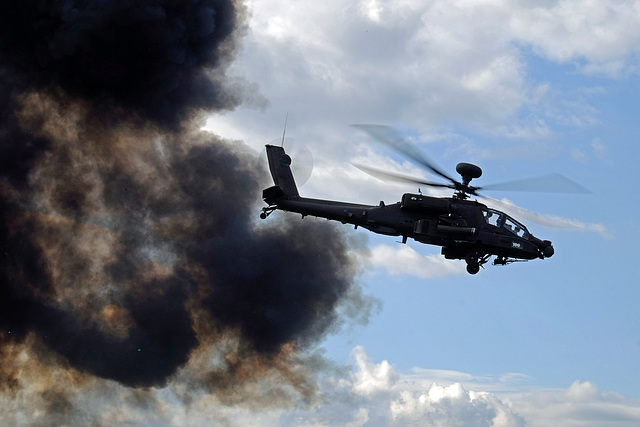 Wings and Wheels Dunsfold August 2014 X-T1 Apache 5
