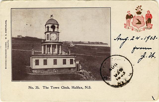 3972. The Town Clock, Halifax, N.S.