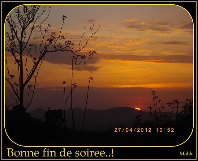 Un beau coucher de soleil..!