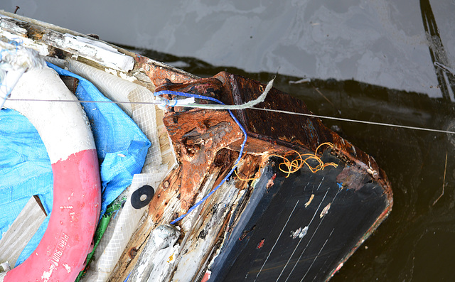 Wood....rotting....boat....neglected